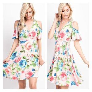 Dresses & Skirts - New Arrival- Floral Wrap Dress